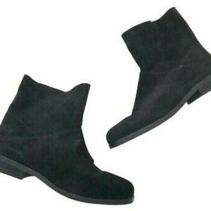 Eileen Fisher Jaunt Suede Ankle Boots Leather